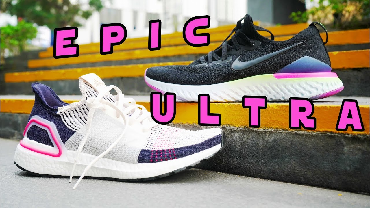 NIKE EPIC REACT FLYKNIT 2 VS ULTRABOOST 19 // $150 VS $180 Running Shoe