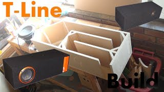 T-line Time - Subwoofer Box Build For Cadence S2w8""