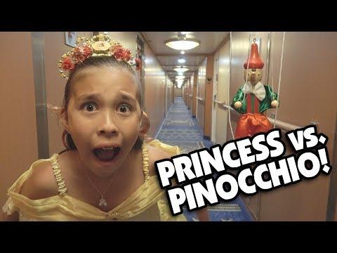 PRINCESS VS. PINOCCHIO!!! A Funny Short Film Puppet Show by JillianTubeHD