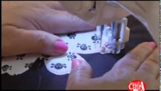 Aprenda a fazer uma bolsa bordada à máquina