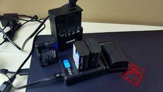LP-E6 LP-E6N для Canon EOS 80D из Китая. АКБ - Andoer, SeiWei, Fits Can и USB зарядки. Распаковка.