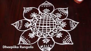 muggulu designs for varalakshmi vratham* sravana sukravaram muggulu *  friday kolam designs