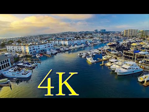 Phantom 3 Pro drone flight in Newport Harbor, CA, in 4K UHD