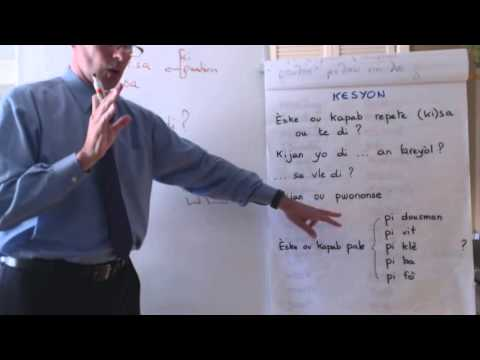 Haitian Creole lesson 9 - conversation, relative pronouns, comparisons