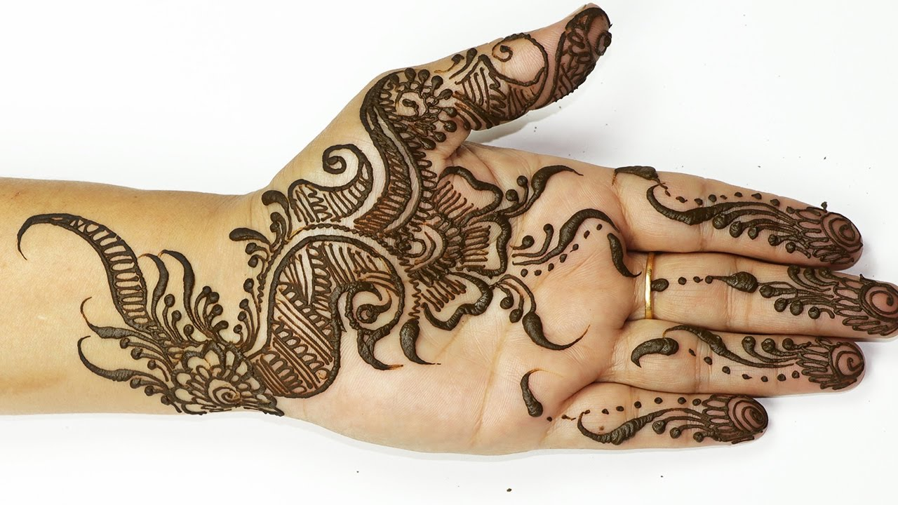Simple Arabic Mehndi Designs For Hands Step By Step For Beginners
