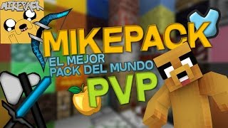 EL MEJOR PACK DE TEXTURAS MINECRAFT 1.8 PVP Y MINECRAFT PE -  MIKEPACK  | MIKECRACK