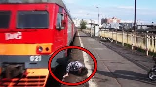 Top 10 People Scary Encounters Caught On Video  Crazy People Who Lucky Alive