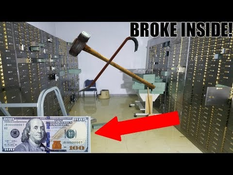 (BUSTING OPEN LOCKED SAFES) MONEY INSIDE! Abandoned Bank Wit
