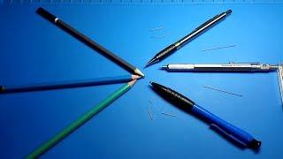 Ручки. 2. Карандаши :)