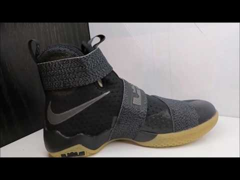 finest selection 8e8e4 4a495 Nike Lebron Soldier 10 Zoom Sneaker Detailed Look Review - YouTube
