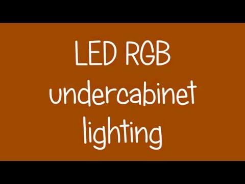LED RGB Under Cabinet Lights   DIY!