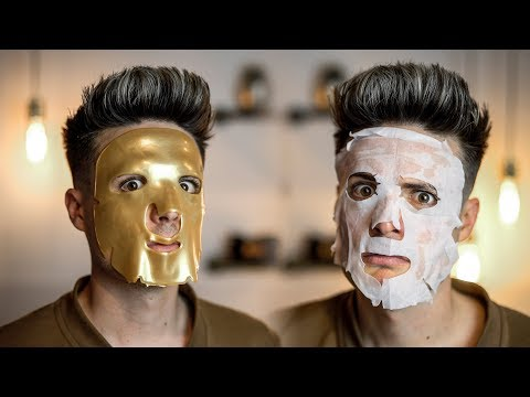 Testing Weird Asian Beauty Face Masks From Amazon | BluMaan 2018