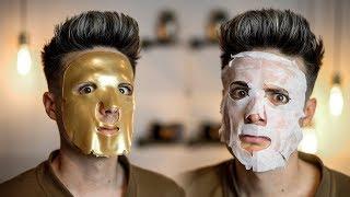 Testing Weird Asian Beauty Face Masks From Amazon | BluMaan 2018