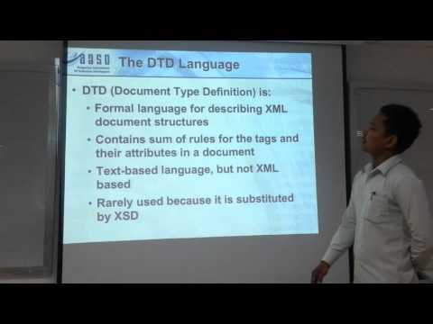 MSIT: Namespace, DTD and XSD of XML Presentation by Mr. Phoen Phorn