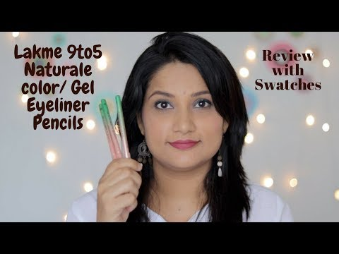 *New* Lakme 9to5 Naturale Gel Eyeliner Review with Swatches   Coloured Gel Liners   Multi Use