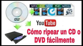 CÓMO COPIAR (RIPEAR) UN DVD, CD O BLU RAY EN TU PC FÁCILMENTE