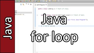 for loop - Java Programming Tutorial #21 (PC / Mac 2015)