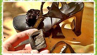 █ R. shoes. Босоножки подошва взорвалась, из пористого ШОКОЛАДА, босые ноги.(R. shoes. joke, laugh, Резина потеряла свои свойства. Чья туфля. Подошва из пористого ШОКОЛАДА, босые ноги, а не..., 2015-09-09T12:29:38.000Z)