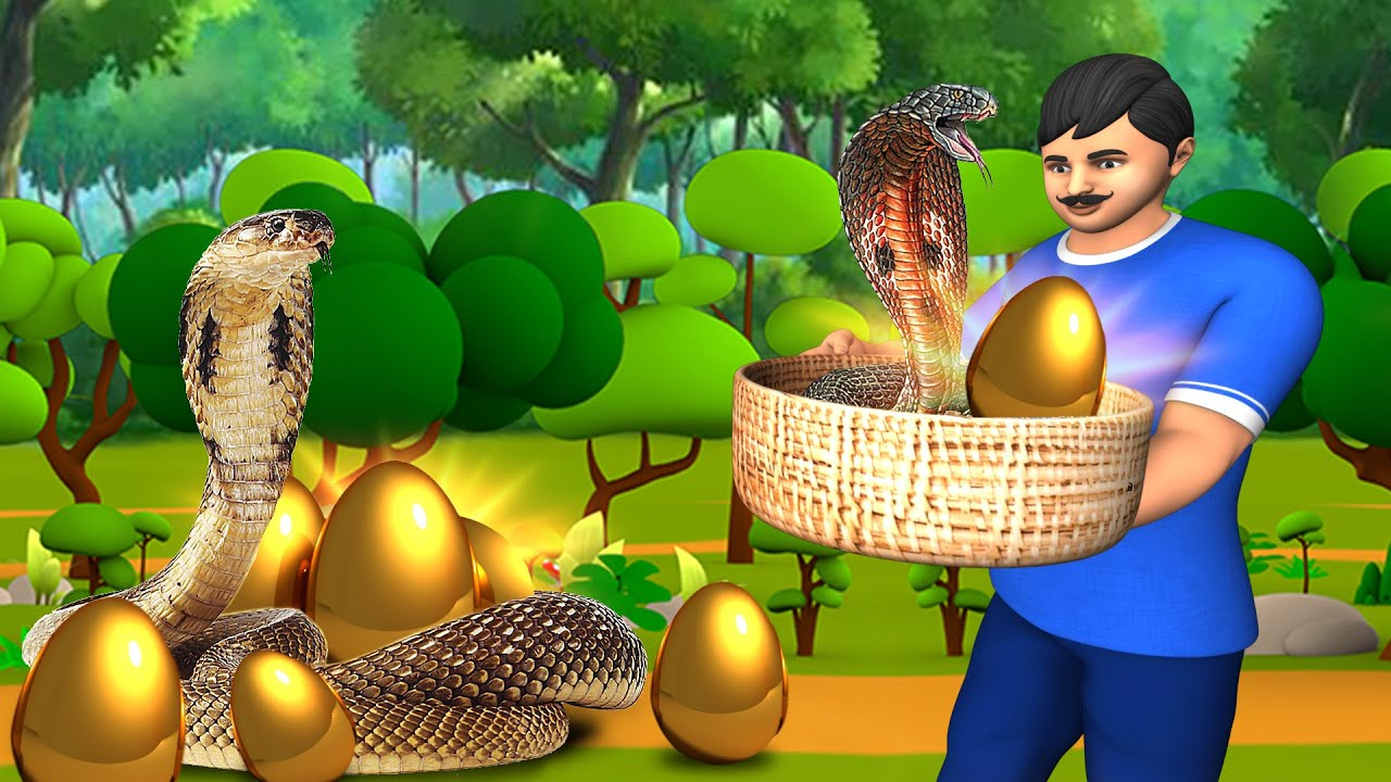 Download सोने के अंडे देनेवॉला साँप - Magical Snake Golden Eggs | Hindi Kahaniya Village Stories JOJO TV