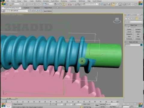 3ds Max Worm Gear (Tutorial)