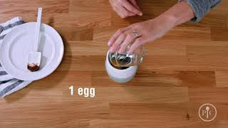 video recipe how to make microwave mug cake