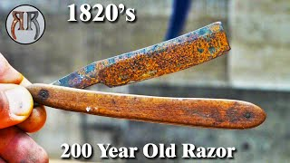 Restoration of Rusty Wİld West Era 1820s Straight Razor