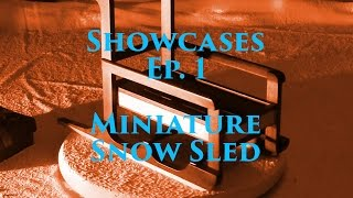Showcase Ep. 1 - Handmade Custom Wood Christmas Miniature Snow Sled - Black Walnut, Maple