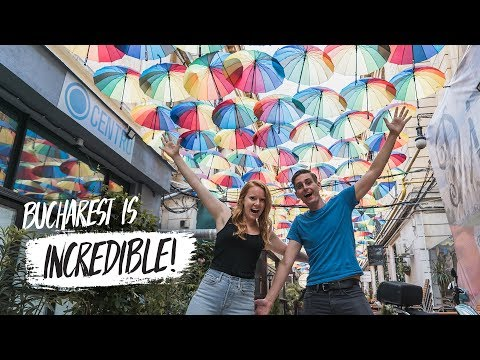 Bucharest STREET TOUR! - Secret Cafes & Hidden Street Art! (
