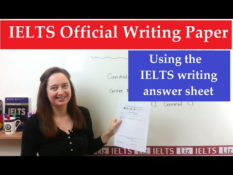 ielts official writing answer sheet