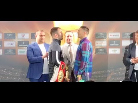 ALL FOUR BELTS!  - OLEKSANDR USYK v MURAT GASSIEV - HEAD TO HEAD @ FINAL PRESS CONFERENCE
