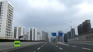 Calles desiertas en Wuhan tras el cierre de esa ciudad por el coronavirus