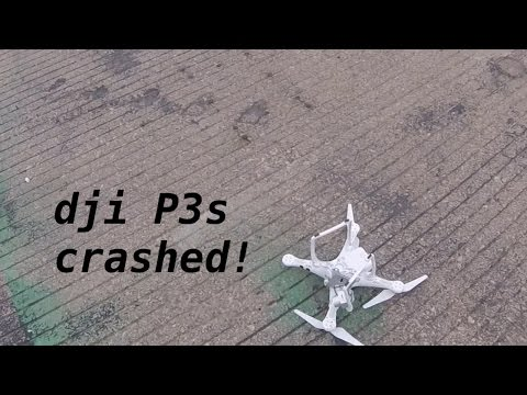 dji P3s crashed because....video by Hero4 session