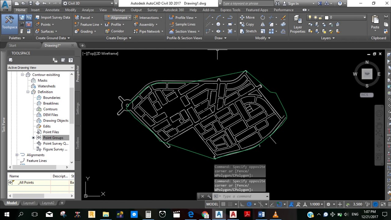 Drawing a profile for road using AutoCAD Civil 3D program (step by ...