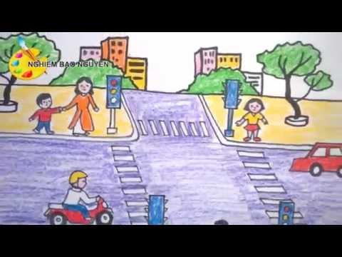 Vẽ tranh An toàn giao thông/How to Draw Traffic Safety