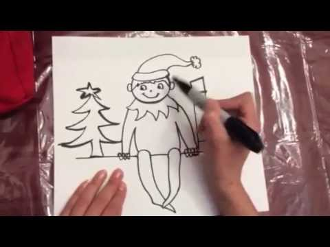 How to Draw The Elf on The Shelf DIY  YouTube