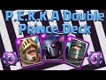 Clash Royale - PEKKA / Double Prince Prince Push Deck! Magical Chest Openings! April 2016