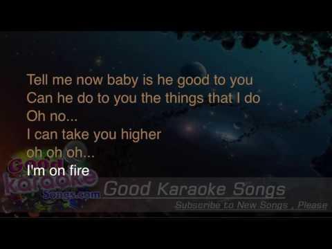 I'm On Fire -  Bruce Springsteen (Lyrics Karaoke) [ goodkaraokesongs.com ]