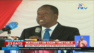 Matiang'i assures parents KCPE, KCSE will take place as scheduled