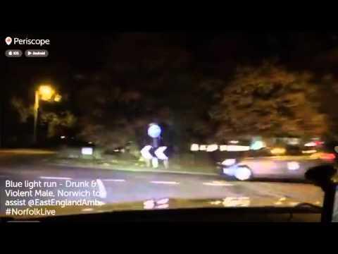 Norfolk Police Blue Light Run - Violent & Drunk Male #NorfolkLive
