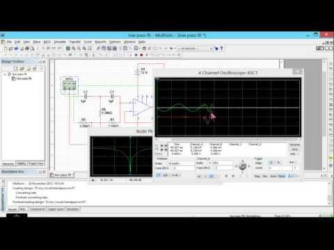 simulating notch filter in multisim