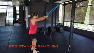 Resistance Band Ski | Ski Erg| Exercises to do at home | Travel Workouts