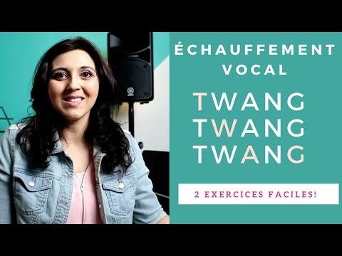 Fast vocal warm-up: TWANG, 2 exercises for voice | vocal power | singing lessons