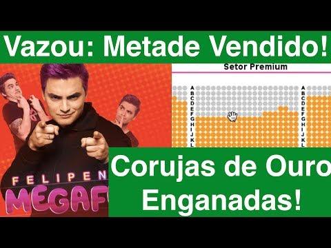 Corujas de Ouro Felipe Neto Enganadas! Veja os Ingressos vendidos antes da abertura oficial!