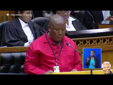 Julius Malema Ignores Parliament Rules. Marikana Debate