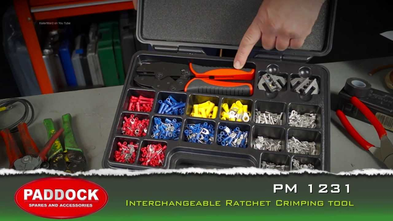 small resolution of pm 1231 auto electrical interchangeable crimping tool and terminal connectors kit youtube