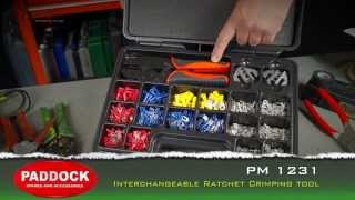 PM 1231 Auto - electrical interchangeable crimping tool and terminal connectors kit