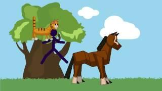 Мультик #9 | Кот 🐈 и лошадь 🏇