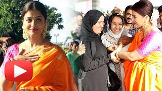(VIDEO) Aishwarya Rai In A Saree At Airport   Sarbjit Promotion