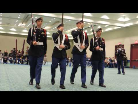 2017 National JROTC Color Guard And Drill Team Event   Cocoa Beach Color Guard