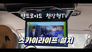 안드로이드 천장형TV 와 차량용 스카이라이프 스카이오토…
